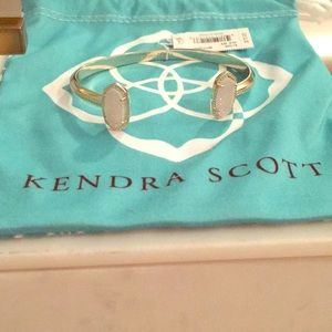 Kendra Scott gold cuff with iridescent druzy! NWT